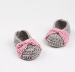 Bow Booties - Crochet Baby Booties/ Shoes