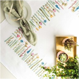 Rico Herbal Meadow Tablecloth Embroidery Kit (90 x 90 cm)