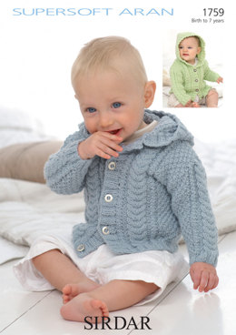 Jackets in Sirdar Supersoft Aran - 1759 - Downloadable PDF
