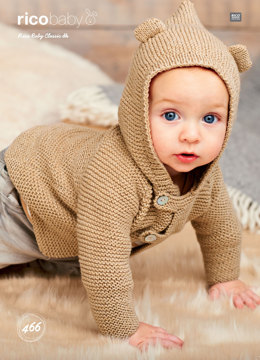 Babies Hooded Jackets in Rico Baby Classic DK - 466 - Downloadable PDF