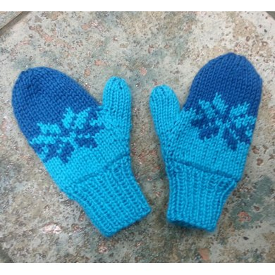 Double Knit Child's Fair Isle Mittens