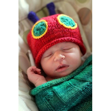 Knitted Cuddly Caterpillar Hat