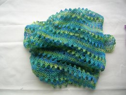 Simple lacy scarf for beginners