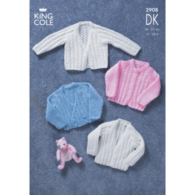 Cardigans in King Cole DK - 2908