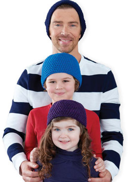 Family Beanies in Caron United - Downloadable PDF