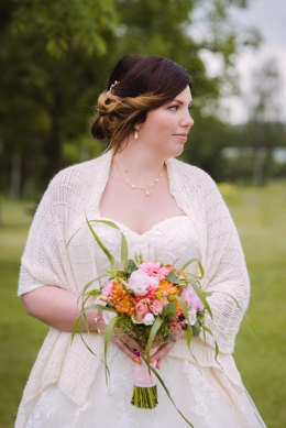 Beaded bridal shawl