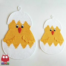 112 Little Chicken Easter decor or potholder