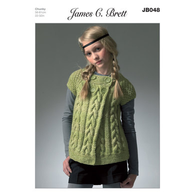 Girl's Cardigan in James C. Brett Marble Chunky - JB048