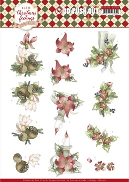 Find It Trading Precious Marieke Punchout Sheet - Center Pieces, Warm Christmas Feelings