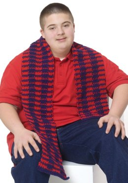 All-American Scarf in Red Heart Super Saver Economy Solids - LW2605