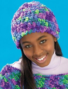 Cool Crochet Cap in Patons Melody - Downloadable PDF