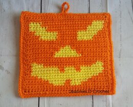 Jack O'Lantern Face Pot Holder