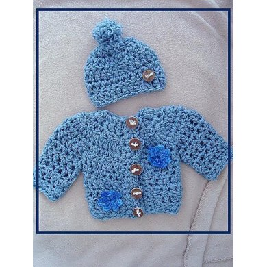 Baby Sweater and Hat Set  PDF  SPP-96