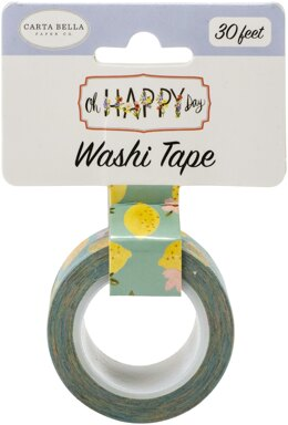 Echo Park Paper Carta Bella Oh Happy Day Spring Washi Tape 30' - Sweet Lemons, Oh Happy Day Spring