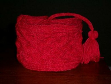 Heart Cable Toque with Tassel