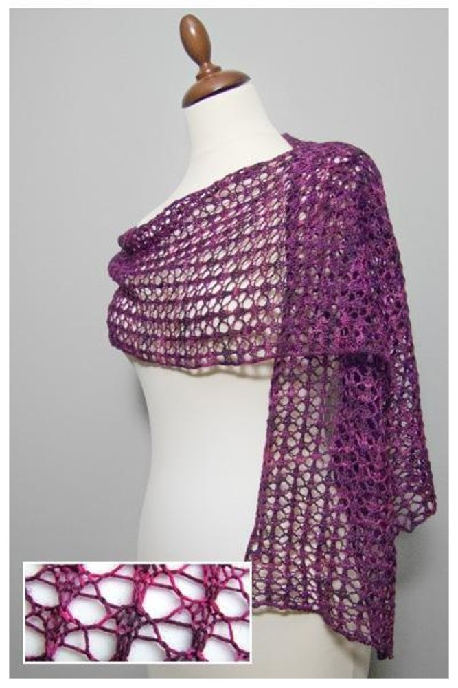 Knitting Patterns For Lace Stoles : Easy Lace Stole Knitting pattern by Arlenes World of Lace Knitting Pat...