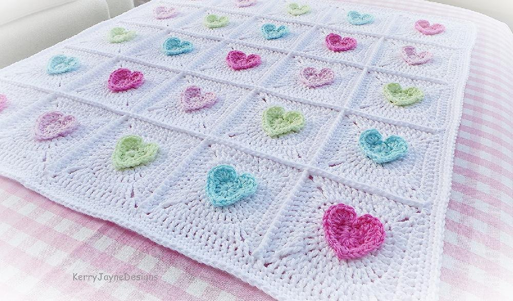 All Heart Blanket Crochet Pattern By Kerry Jayne Designs Crochet