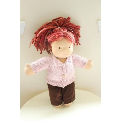 0040 - Collared Doll Sweater for 15-16 inch Dolls