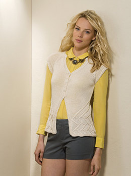 Architectural Vest in Tahki Yarns Cotton Classic Lite