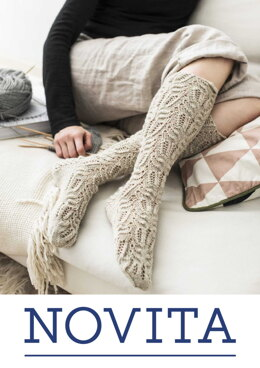 Knee-High Lace Stockings in Novita Nalle - Downloadable PDF