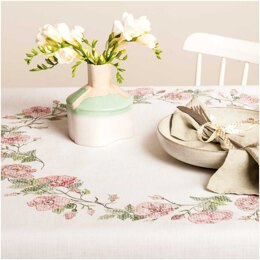 Rico Roses Tablecloth Embroidery Kit (90 x 90 cm)