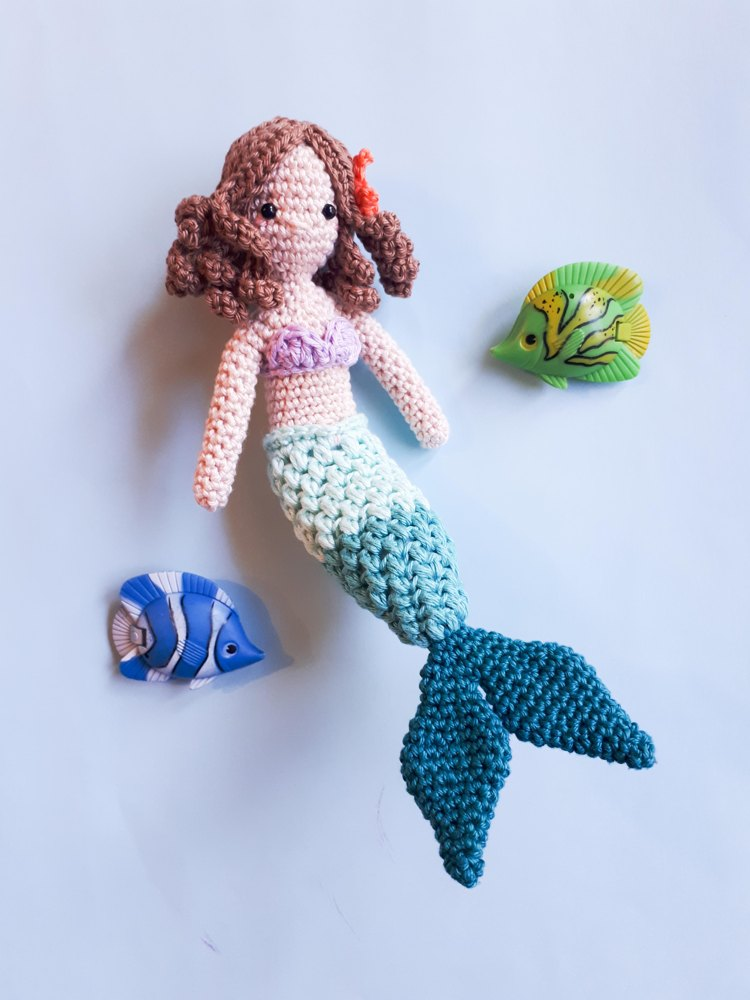 Mermaid Doll Crochet Pattern By Birds And Crickets