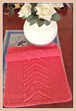 Seed Stitch Chevron Knit Towel