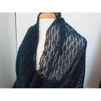 Copenhagen Reversible Mesh Lace Wrap and Scarf