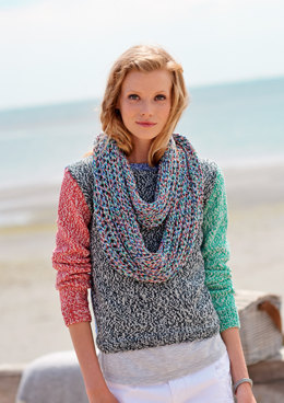 Sweater and Brioche Snood in Rico Fashion Cotton Mouline DK - 306 - Leaflet