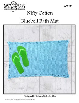 Bluebell Bath Mat in Cascade Yarns Nifty Cotton - W717 - Downloadable PDF