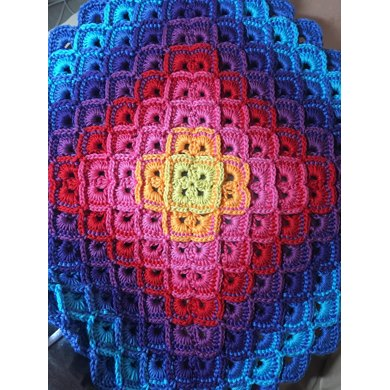 Over The Rainbow Afghan Crochet Pattern By T M Designs