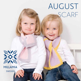 August Scarf in MillaMia Naturally Soft Merino - Downloadable PDF