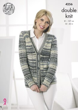 Cardigan & Waistcoat in King Cole DK - 4256 - Downloadable PDF
