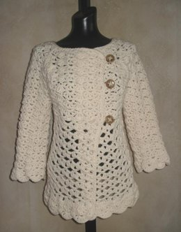 #76 Vintage Top-Down Crochet Cardigan