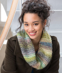 Anytime Cowl in Red Heart Boutique Treasure - LW4780 - Downloadable PDF