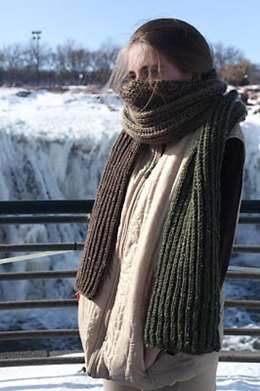 Giant Color Shift Brioche Scarf