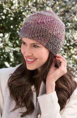 Shaded Mitered Hat  in Red Heart Boutique Treasure - LW4273