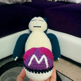 Crocheted Snorlax Pokémon