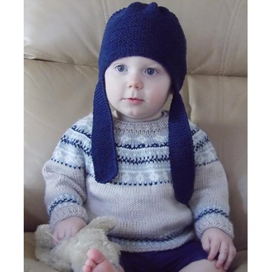 Baby Fair Isle Sweater And Hat Knitting Pattern By Oge Knitwear