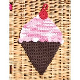 Ice Cream Dishcloth in Lily Sugar 'n Cream Solids & Ombre