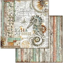 """Stamperia Intl Stamperia Double-Sided Cardstock 12""""X12"""" 10/Pkg - Seahorse"""
