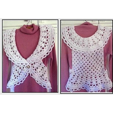 818  Granny Square Shrug Vest