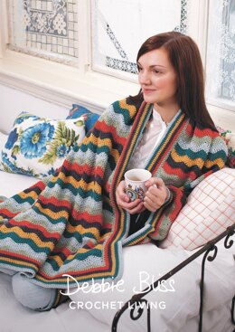 Stripy Wave Throw in Debbie Bliss Rialto DK - DBS063 - Downloadable PDF