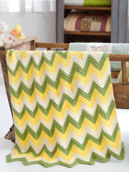 Zig Zag Baby Blankets in Caron Simply Soft Collection - Downloadable PDF
