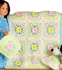 """Annabelle's Rose  Blankie & Pillow Set"""