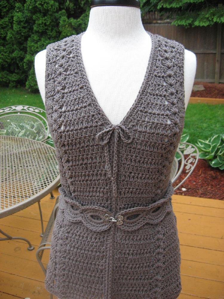 Meadows Vest And Matching Belt Crochet Pattern By Deborah Devlin