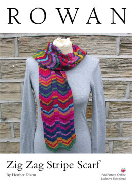 Zig Zag Stripe Scarf in Rowan Alpaca Colour