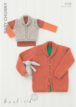 Cardigan and Waistcoat in Hayfield Baby Chunky - 4598
