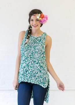 Soak Up The Sun Tank in Knit Collage Wildflower - Downloadable PDF