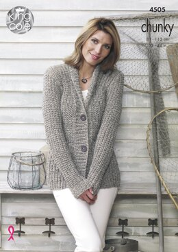 Jacket & Gilet in King Cole Chunky - 4505 - Downloadable PDF